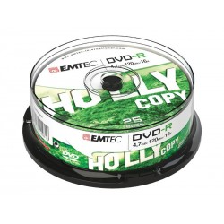 Pack de 25 DVD-R 4.7 GB EMTEC 16x Speed (cake box)