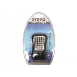 Lampe de poche Arcas 24 LED + 4 LED Light avec aimant et crochet pivotant