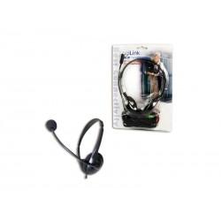 Casque LogiLink audio stéréo avec microphone noir (HS0002)