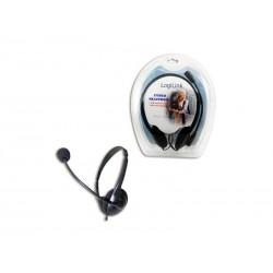 Casque stéréo noir LogiLink avec microphone (HS0001)