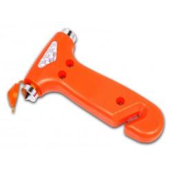 Marteau de sécurité avec coupe ceinture (Orange)
