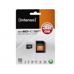 MicroSDHC 32GB Intenso + Adaptateur CL4 sous Blister