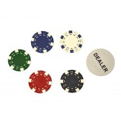 Malette de poker en alu + 300 jetons (Jetons non marqués. 11.5g)