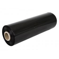 Film étirable noir PE (500mm largeur. 300m longueur. 23mu)