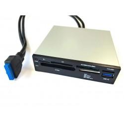 Panneau lecteur de cartes multiformats 3.5 avec port USB 3.0