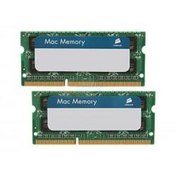 Barette mémoire Corsair Mac Memory SO-DDR3 1333MHz 8Go (2x 4Go) CMSA8GX3M2A1333C9