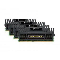 Barrette mémoire Corsair Vengeance DDR3 1600MHz 16Go (4x 4GB) Noir CMZ16GX3M4A1600C9