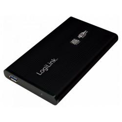 Boitier Logilink pour disque dur de 2,5, S-ATA, USB 3.0, Alu, Noir (UA0106)