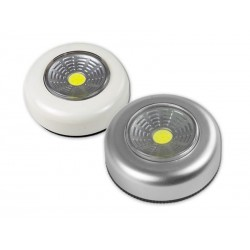 Lampe pression Arcas COB Push Light (50 Lumens) Blanc/argenté