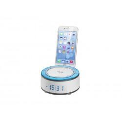 Radio réveil AEG MRC 4151 avec support pour Smartphone - Blanc