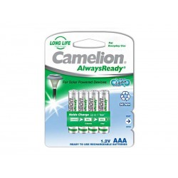 Pack de 4 piles rechargeables Camelion AlwaysReady Micro AAA 600mA