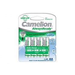 Pack de 4 piles rechargeables Camelion AlwaysReady Mignon AA 600mA