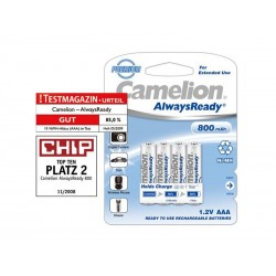 Pack de 4 piles rechargeables Camelion Always Ready Micro AAA 800mAh