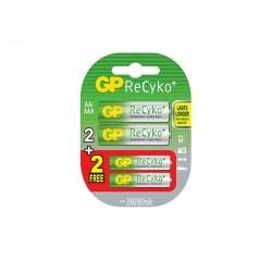 Pack de 4 accus GP ReCyko AA 2000mAh & AAA 800mAh