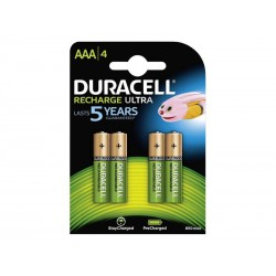 Pack de 4 piles rechargeables Duracell AAA Micro 850mAh