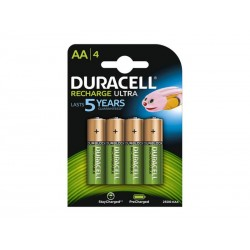 Pack de 4 Accu Duracell AA Mignon 2500mAH
