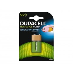 Pile rechargeable Duracell 9V E-Block 170mAh (1Pce)