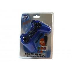 Manette de jeu USB Vinyson pour PC Bleu