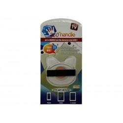Support de doigt pour smartphone et tablette 360°- Transparent/Rose