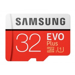MicroSDHC 32Go Samsung +SDHC Adaptateur CL10 EVO Plus