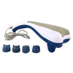 Appareil de massage avec 4 têtes de massage (Bleu/Blanc)