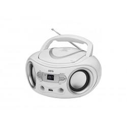 Radio stéréo AEG SR 4374 avec lecteur CD (Blanc)