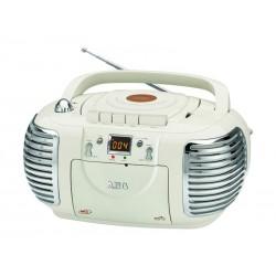 Radio stéréo AEG SR 4377 avec lecteur CD (Crème)
