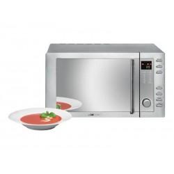 Micro-ondes MWG 775 H Clatronic 23L avec grill + air chaud - Inox