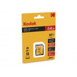 SDXC 64Go Kodak CL10 UHS-I 85MB/s - Sous blister