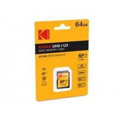 SDXC 64Go Kodak CL10 UH1 U3 Ultra 95MB/s - Sous blister