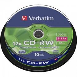 CD-RW 80 Verbatim 12x 10er Cakebox 43480