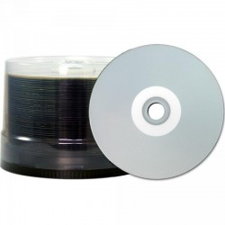 CD-R 80 JVC/TY (by CMC PRO) 48x Inkjet silver Full Surface WaterPro 100er Bulk T-CDR80SPPWS-50SB