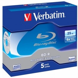 BD-R 25GB Verbatim 6x 5er Jewel Case 43715