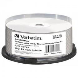 BD-R 25GB Verbatim 6x Thermo white Full Surface 25er Cakebox 43743