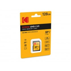 SDXC 128Go Kodak CL10 UH1 U3 Ultra 95MB/s - Sous blister
