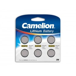 Pack Mix de 6 piles Camelion Lithium CR2016, CR2025, CR2032