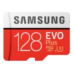MicroSDXC 128GB Samsung +SDHC Adaptateur CL10 EVO Plus