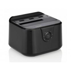 Station d´accueil DUO USB 3.0 2.5/3.5 SATA HDD avec chargeur (DDS-03B Noir)