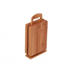 MK Bamboo DIJON - Set planchettes à découper avec support (6-pces)