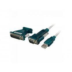 Adaptateur Logilink USB 2.0 vers série, 9+25 broches (UA0042A)