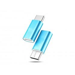 Adaptateur microUSB - USB Type-C (Bleu)