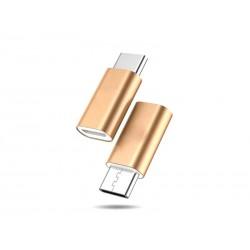Adaptateur microUSB - USB Type-C (Doré)