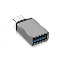 Adaptateur USB Type-C - USB 3.0 (Gris)
