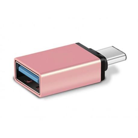 Adaptateur USB Type-C - USB 3.0 (Rose/Rose clair)